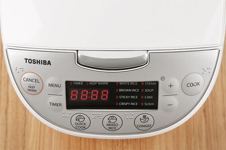Nồi cơm điện tử Toshiba 1 lít RC-10DH2PV(W) | Bảng điều khiển tiện dụng, chức năng hẹn giờ thông minh