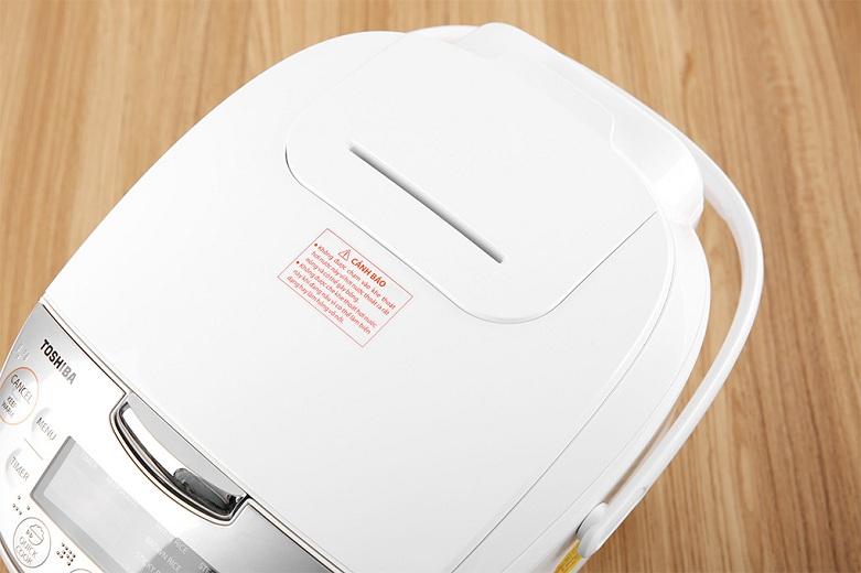 Nồi cơm điện tử Toshiba 1 lít RC-10DH2PV(W) | Trang bị van thoát hơi