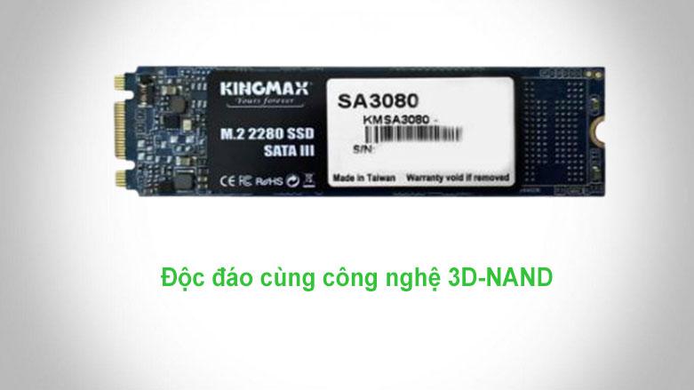 Ổ cứng SSD Kingmax SA3080 M.2 2280 256GB   công nghệ 3D-NAND