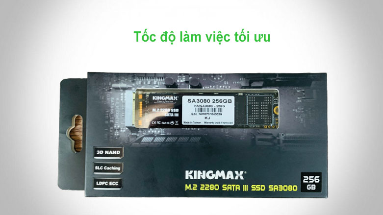 Ổ cứng SSD Kingmax SA3080 M.2 2280 256GB   Hiệu năng xử lý tối ưu