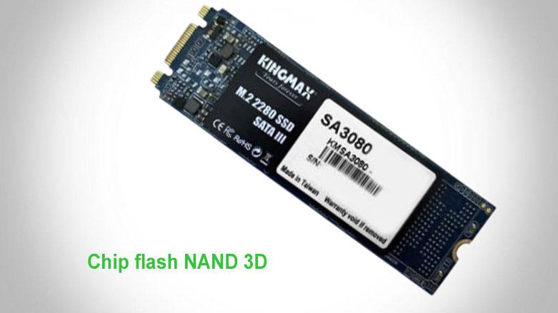 Ổ cứng SSD Kingmax SA3080 M.2 2280 256GB   chip flash NAND 3D