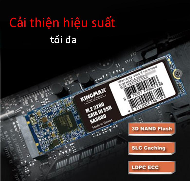 Ổ cứng SSD Kingmax SA3080 M.2 2280 512GB | Cải thiện hiệu suất tối đa