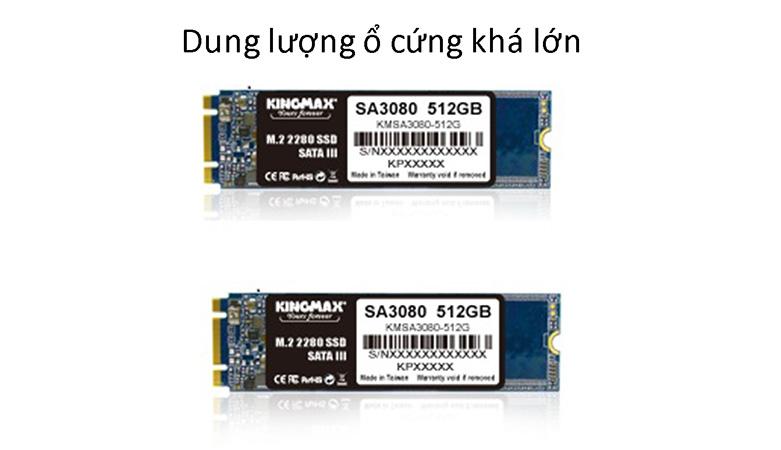 Ổ cứng SSD Kingmax SA3080 M.2 2280 512GB | Dung lượng ổ cứng khá lớn