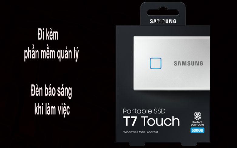 Ổ cứng SSD Samsung Portable T7 Touch 500GB (MU-PC500S/WW) (Bạc) | Phần mềm quản lý kèm theo