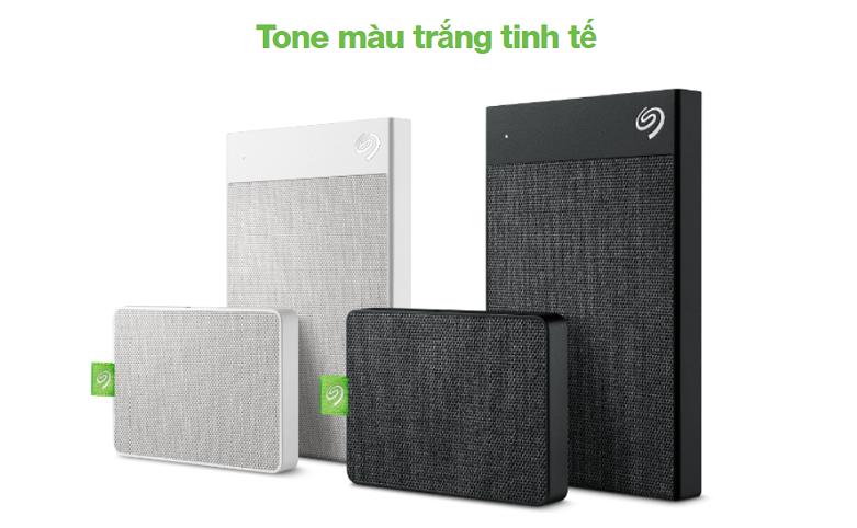Ổ cứng gắn ngoài SSD Seagate Ultra Touch 1TB White (STJW1000400) | Tone màu trắng tinh tế