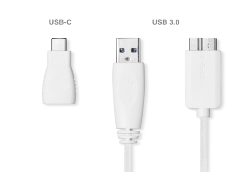Ổ cứng gắn ngoài SSD Seagate Ultra Touch 1TB White (STJW1000400) | Kết nối USB type C