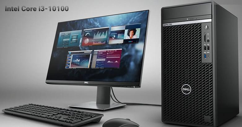 PC Dell OptiPlex 3080 SFF (i3 10100/4GB/1TB HDD/DVDRW/KB+M/Fedora/1Yr) | Hiệu năng mạnh mẽ