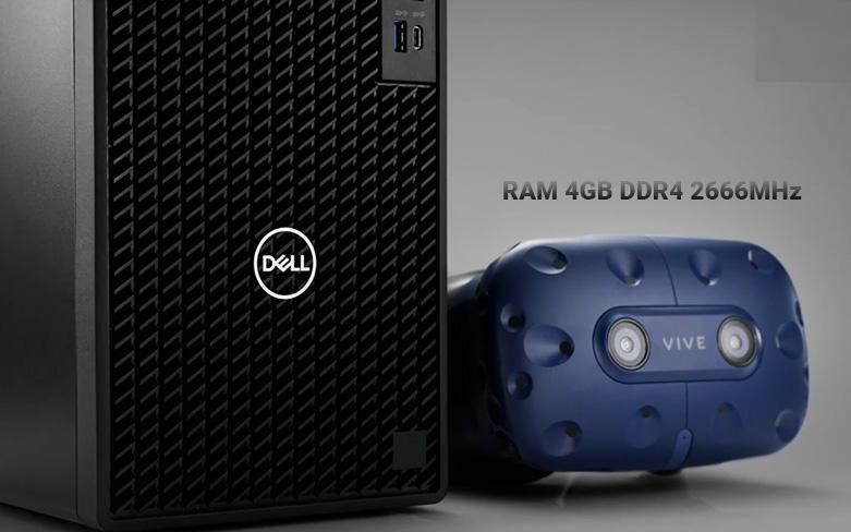 PC Dell OptiPlex 3080 SFF (i3 10100/4GB/1TB HDD/DVDRW/KB+M/Fedora/1Yr) | bộ nhớ RAM 4GB DDR4