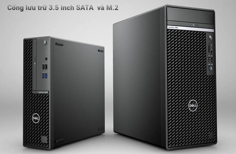 PC Dell OptiPlex 3080 SFF (i3 10100/4GB/1TB HDD/DVDRW/KB+M/Fedora/1Yr) | Hỗ trợ cổng lưu trữ tối đa