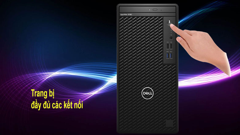 PC Dell OptiPlex 3080 Tower (42OT380012) | trang bị đầy đủ các kết nối