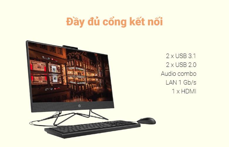 PC HP AIO 205 Pro G4 (31Y21PA)   Hỗ trợ đa dạng các cổng kết nối