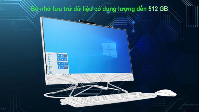 PC HP AIO 22-df0134d (180N7AA) | Dung lượng lưu trữ 512GB