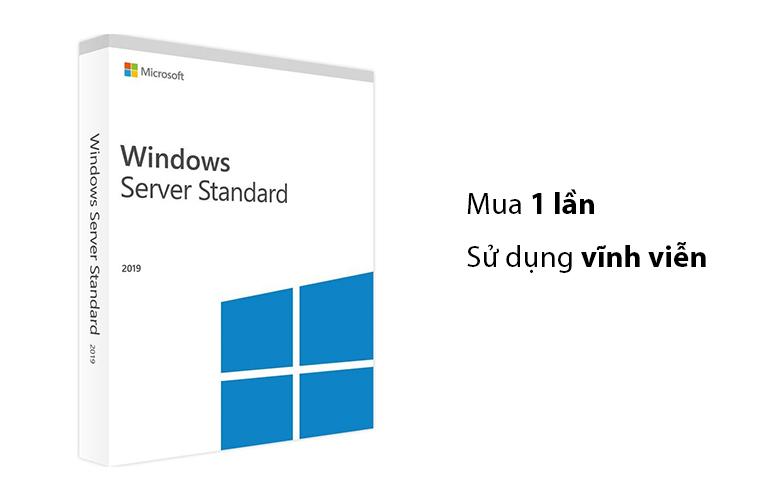 Phần mềm Windows Svr Std 2019 64Bit English 1pk DSP OEI DVD 16 Core P73-07788 | kết hợp hạn dùng bản quyền vĩnh viễn tiết kiệm chi phí