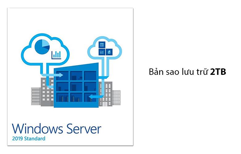 Phần mềm Windows Svr Std 2019 64Bit English 1pk DSP OEI DVD 16 Core P73-07788 | trang bị bản sao lưu trữ khối lượng lên đến 2TB khá cao