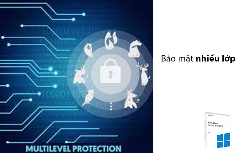 Phần mềm Windows Svr Std 2019 64Bit English 1pk DSP OEI DVD 16 Core P73-07788 | chế độ bảo mật nhiều lớp nâng cao