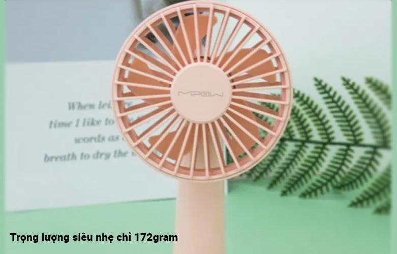 Quạt Thông Minh Mipow Flip Adjust Mini Fan (Hồng) | Trọng lượng nhẹ