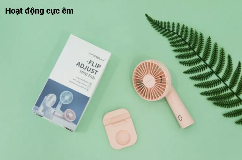 Quạt Thông Minh Mipow Flip Adjust Mini Fan (Hồng) | Hoạt động êm ái