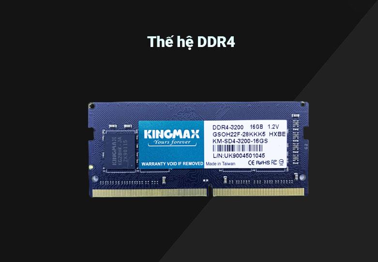 Bộ nhớ laptop DDR4 Kingmax 16GB (3200) | thế hệ DDR4