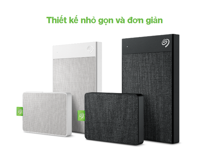 Ổ cứng gắn ngoài SSD Seagate Ultra Touch 500GB White (STJW500400) | Thiết kế nhỏ gọn và đơn giản