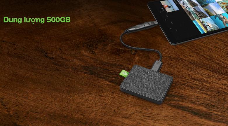 Ổ cứng gắn ngoài SSD Seagate Ultra Touch 500GB White (STJW500400) | dung lượng khủng lên đến 500GB