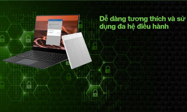 Ổ cứng gắn ngoài SSD Seagate Ultra Touch 500GB White (STJW500400) | dễ dàng tương thích và sử dụng cả 2 hệ điều hành
