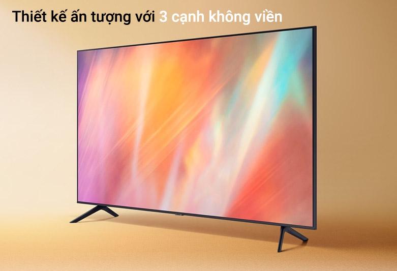 Smart Tivi Samsung 4K UHD 50 Inch UA50AU7000KXXV | Thiết kế ấn tượng với 3 cạnh không viền