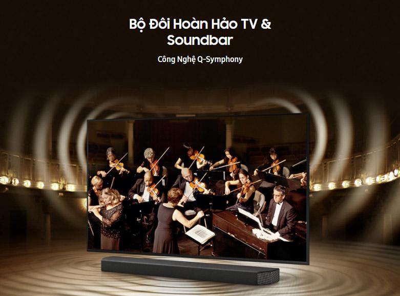 Smart Tivi Samsung 4K UHD 50 Inch UA50AU7000KXXV | công nghệ Q-Symphony