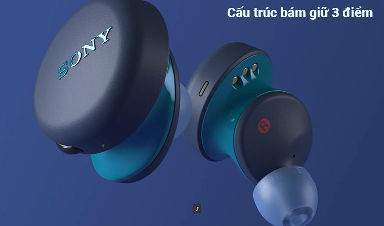 Tai Nghe Bluetooth Sony WF-XB700/LZ || cấu trúc bám giữ 3 điểm