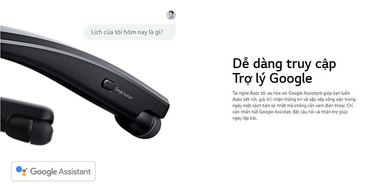 Tai Nghe Bluettooth LG HBS-XL7 (Đen) | Nhanh chóng kết nối với trợ lý ảo