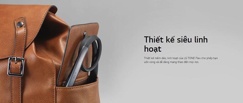 Tai Nghe Bluettooth LG HBS-XL7 (Đen) | Thiết kế dạng đeo cổ