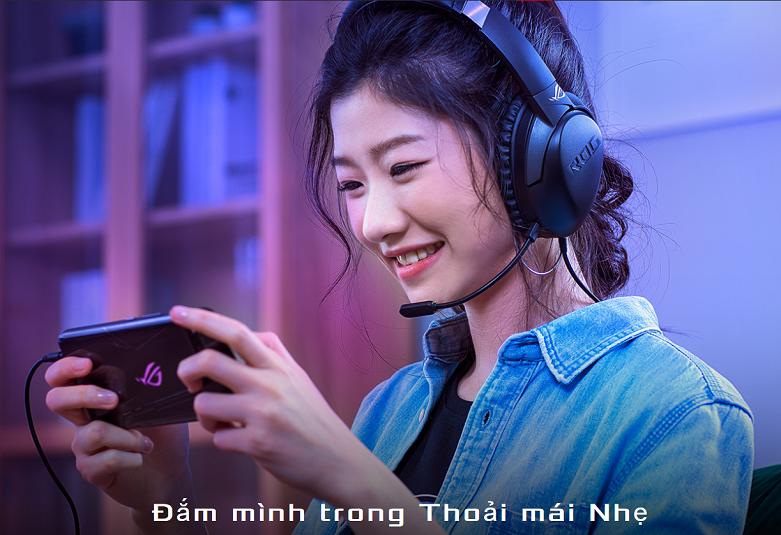Tai nghe Asus ROG Strix Go Core (Đen) || Trọng lượng nhẹ nhàng và thoải mái