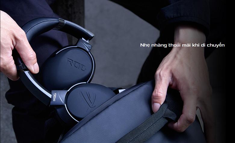 Tai nghe Asus ROG Strix Go Core (Đen) || Trọng lượng nhẹ nhàng và thoải mái di chuyển