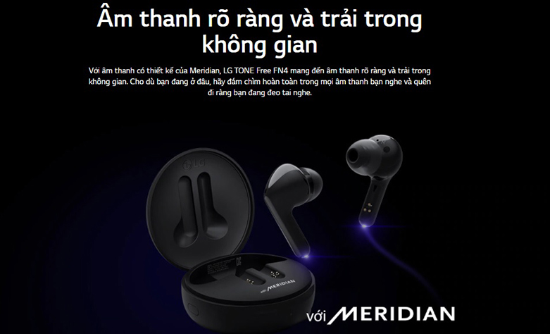 Tai Nghe Bluettooth LG HBS-FN4 (Đen) | Chất lượng âm thanh cao