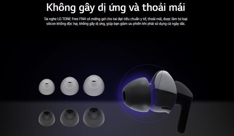 Tai Nghe Bluettooth LG HBS-FN4 (Đen) | không gây độc hại, dị ứng