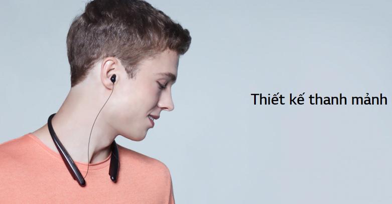 Tai nghe Bluetooth LG HBS-SL6S.ABVNBK | Thiết kế nhỏ gọn tiện lợi