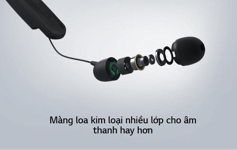 Tai nghe Bluetooth LG HBS-SL6S.ABVNBK | khả năng lọc, ngăn tiếng ồn