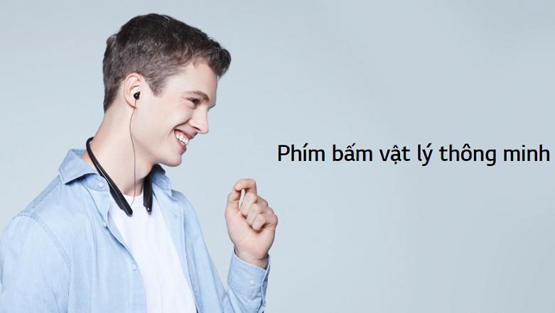 Tai nghe Bluetooth LG HBS-SL6S.ABVNBK | phím bấm vật lý cơ bản