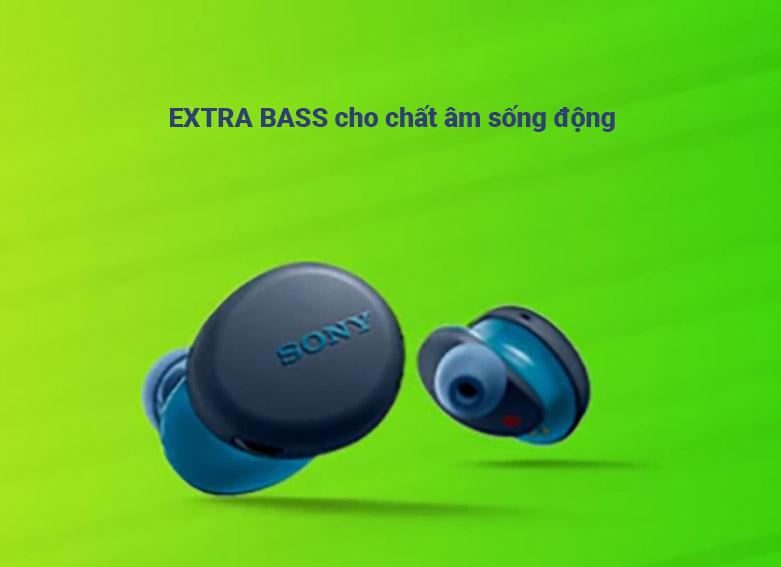 tai nghe Bluetooth Sony WF-SP800N/LME (Xanh) | Chất âm sống động