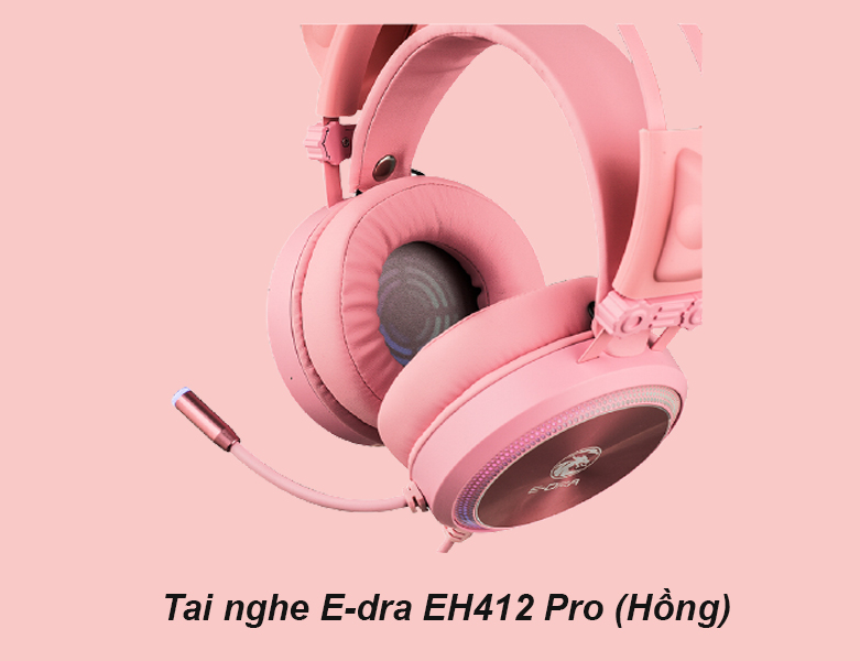 Tai nghe E-dra EH412 Pro (Hồng) | Thiết kế đẹp mắt