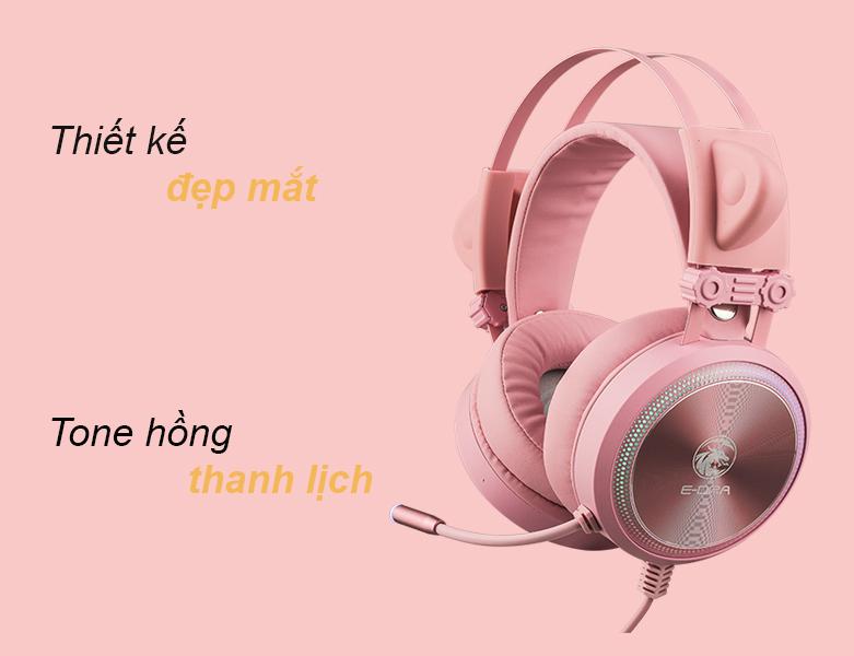 Tai nghe E-dra EH412 Pro (Hồng) | Tone hồng thnah lịch