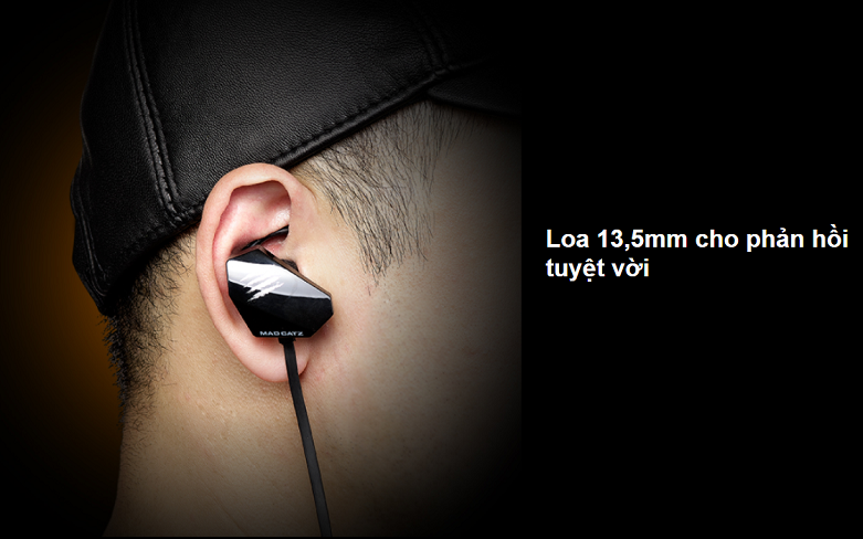Tai nghe Madcatz E.S.Pro+ Gaming Earbuds (Đen) | Loa 13,5 mm