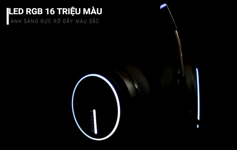 Tai nghe Zidli ZH-7RGB (Đen) | Trang bị đèn LED 16 triệu màu