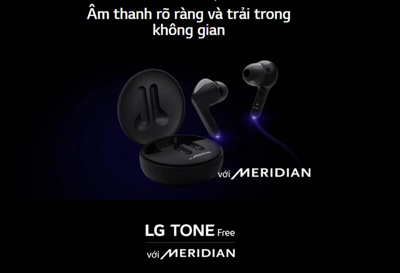Tai Nghe Bluetooth LG HBS-FN6 (Đen)   Công nghệ âm thanh Meridian