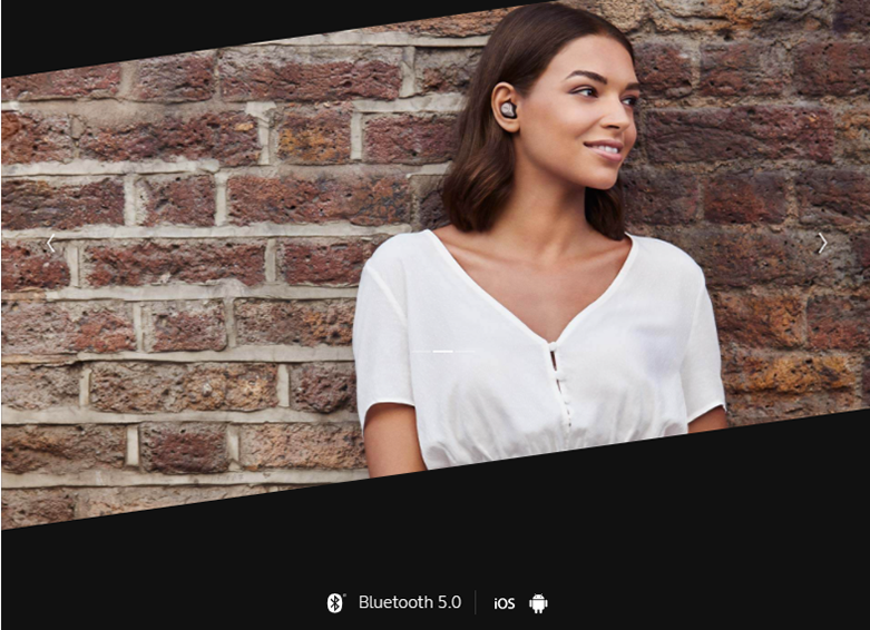 Tai nghe Bluetooth Jabra Elite 75t (Titanum Black) | kiểu dáng đơn giản