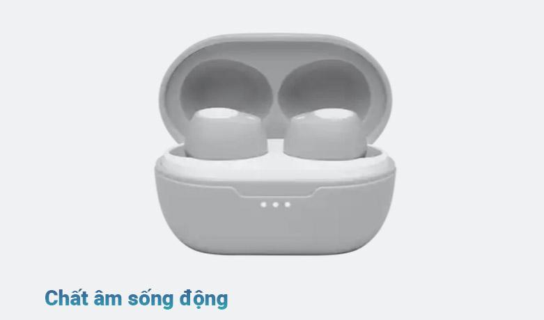 Tai nghe không dây True Wireless JBL Tune T115TWS (Trắng) | Chất âm sống động