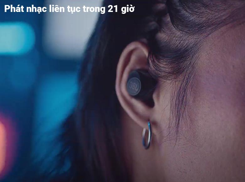 Tai nghe không dây True Wireless JBL Tune T115TWS (Đen) | Thời lượng pin cao