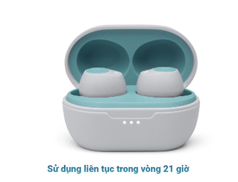 Tai nghe không dây True Wireless JBL Tune T115TWS (Xanh) | Sử dụng liên tục