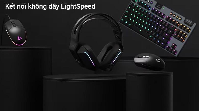 Tai nghe không dây gaming Logitech G733 Lightspeed RGB (Đen)   Trọng lượng siêu nhẹ