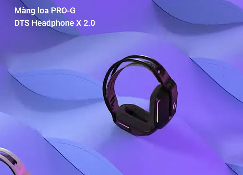 Tai nghe không dây gaming Logitech G733 Lightspeed RGB (Đen)   âm thanh vòm DTS Headphone X 2.0