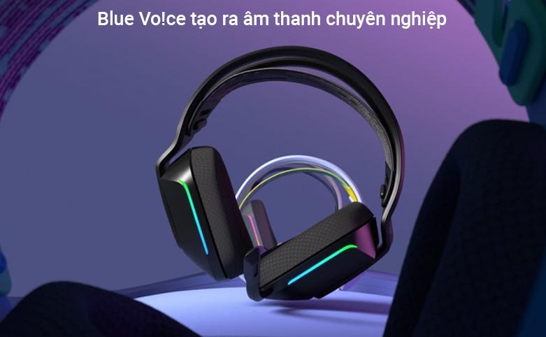 Tai nghe không dây gaming Logitech G733 Lightspeed RGB (Đen)   công nghệ Blue Vo!ce